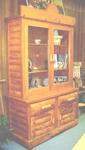 COWBOY WESTERN LODGE STYLE LOG CHINA CABINET- BOOK CASE