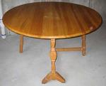 A. BRANDT RANCH OAK HORSESHOE CARVED GATE LEG TABLE-KS