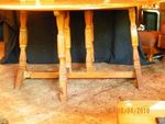 A. BRANDT RANCH OAK GATE LEG TABLE, HORSESHOE IN WI