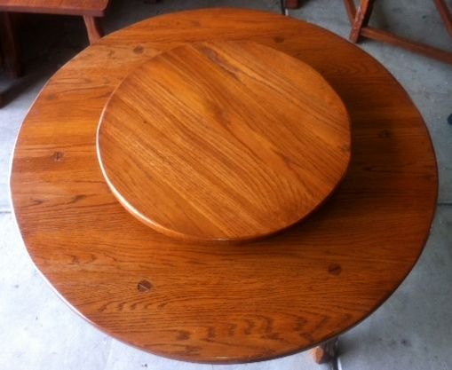 A Brandt Ranch Oak Lazy Susan Coffee Table Cowboy Classics