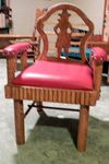 MOLESWORTH STYLE ANNIE OAKLEY CHAIR-RED LEATHER CUSTOM