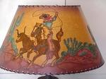 HAND PAINTED COWBOY LAMPSHADE