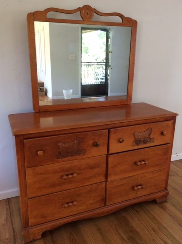Chest with the large mirror attached to it!