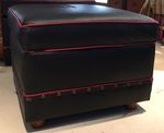 MOLESWORTH STYLE OTTOMAN - LEATHER - HIDDEN STORAGE