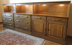A BRANDT RANCH OAK TRIPLE UNIT DRESSERS-BUFFET-IN AZ