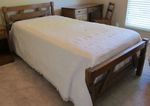 A BRANDT RANCH OAK SAWBUCK TWIN BED - ACORN - IN AZ