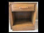 A BRANDT RANCH OAK NIGHTSTAND - ACORN - IN ARIZONA