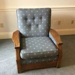 A. BRANDT RANCH OAK ADJUST A CHAIR AND OTTOMAN IN MS