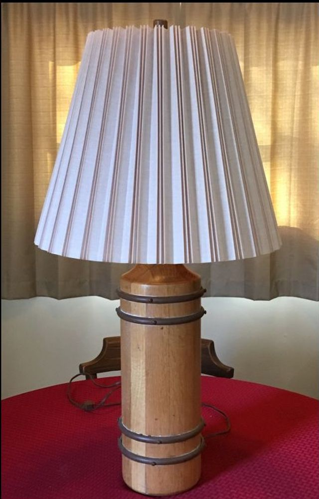 Lamp with Non-original shade-light finish