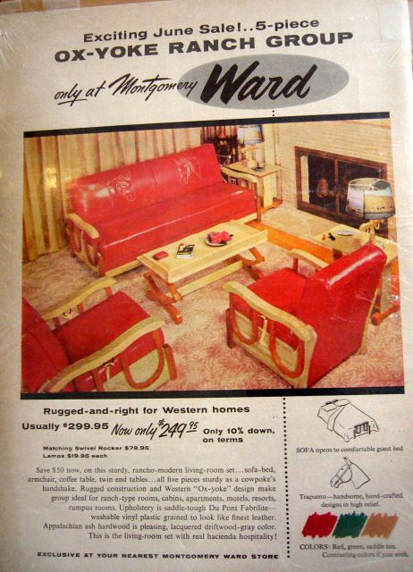 1950 S Furniture Ad For Cowboy Western Furniture Cowboy