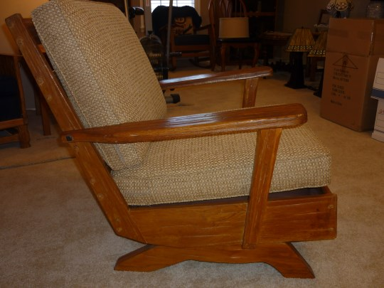 RIGHT VIEW OF A. BRANDT RANCH OAK ROCKER