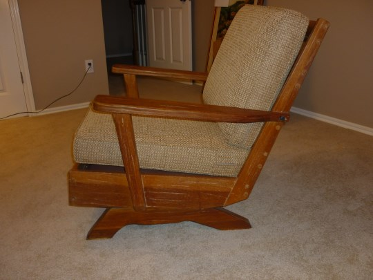 LEFT VIEW OF A. BRANDT RANCH OAK ROCKER