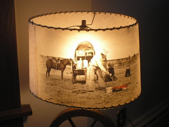 PHOTO SHADE OF TWO OF TWO TABLE LAMPS