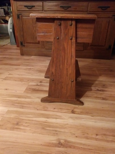 A. BRANDT RANCH OAK NIGHT TABLE LEFT VIEW