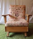 A. BRANDT RANCH OAK PLATFORM ROCKER W/CASTERS - IN MT