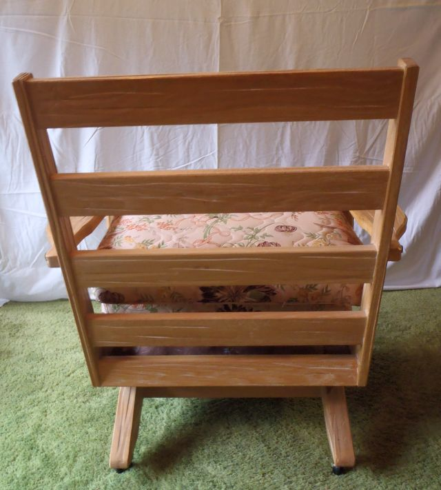 A. Brandt Ranch Oak Platform Rocker with casters-back view