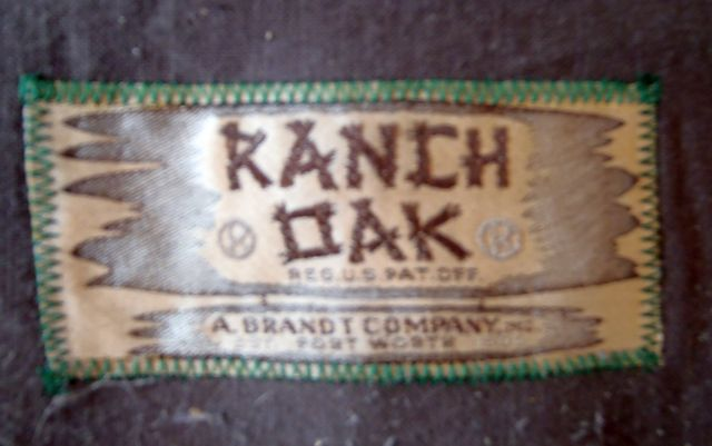 A. Brandt Ranch Oak fabric label on spring cover
