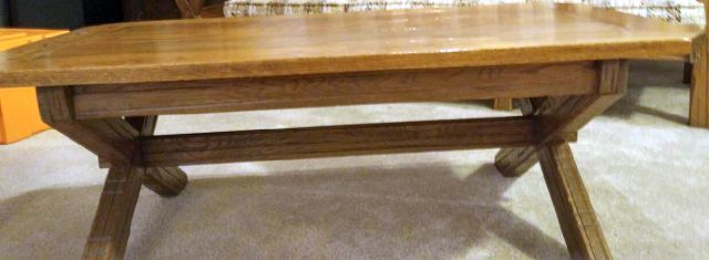 A. BRANDT RANCH OAK COFFEE TABLE