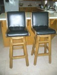 A. BRANDT RANCH OAK PAIR OF 2 BAR STOOLS - IN OK