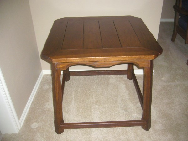 A. BRANDT RANCH OAK LAMP TABLE - TUDOR OAK FINISH