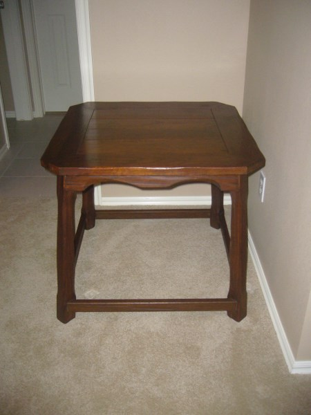 LEFT VIEW OF TABLE