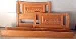 A. BRANDT RANCH OAK TWIN CACTUS CARVED BED - IN TN