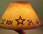 BRANDED LAMPSHADE  - HAND PAINTED JOAN LAGOY