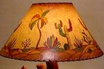 JOAN LAGOY HAND PAINTED ALL CACTUS SHADE